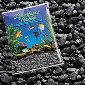 Pure Water Pebbles Nature's Ocean Aquarium Jet Black Gravel, 5lb Bag