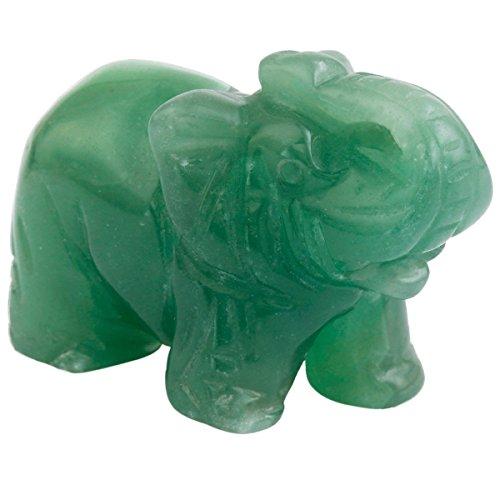Figurine Elephant Stone (rockcloud Healing Crystal Guardian Elephant Pocket Stone Figurines Carved Gemstone Crafts 1.5'')