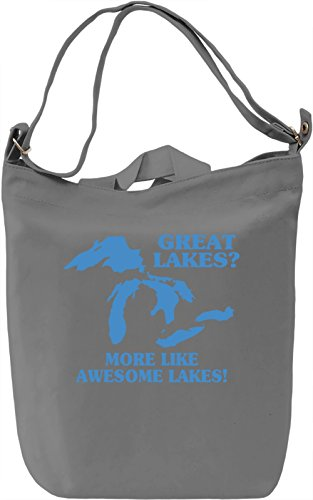 Awesome Lakes Borsa Giornaliera Canvas Canvas Day Bag| 100% Premium Cotton Canvas| DTG Printing|