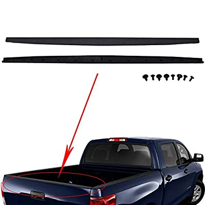 labwork Tailgate Cap Molding Cover Protector Trim w/Retainers fit for 2007-2013 Toyota Tundra: Automotive