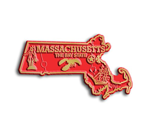 Massachusetts State Map (State Shape Flexible Magnet)