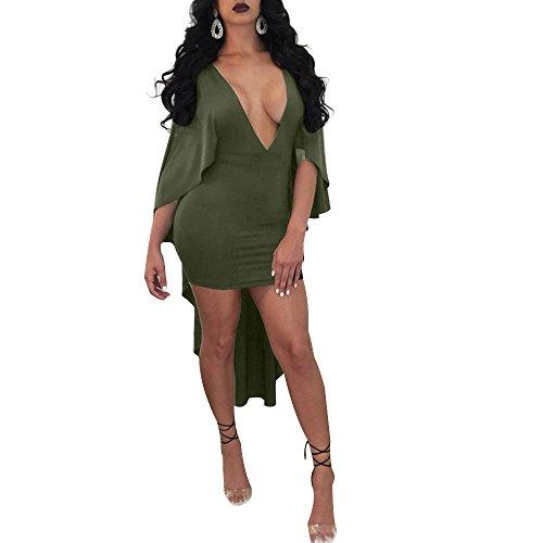 Robe Robe Sexy Profond Courte Femme DéColleté Noir Col V IrréGulièRe Robe Ete Robe Longue Fathoit Femmes Mode V wgp6OZqwUx
