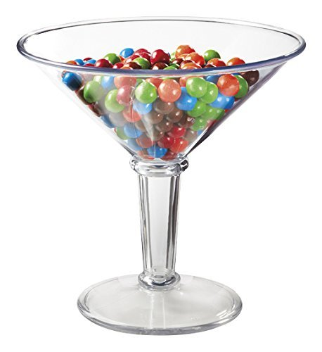 (48 oz. Super Martini Glass, Plastic, Break Resistant, Dishwasher Safe, BPA Free, GET)