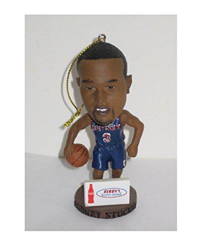 RODNEY STUCKEY #3 Mini Pistons Bobblehead Holiday Ornament NBA Detroit Basketball