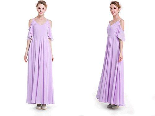 Chiffon vestito Abito Da Signore Purple Beautygirl estate pannello Esterno dress 7wXqn4xR5