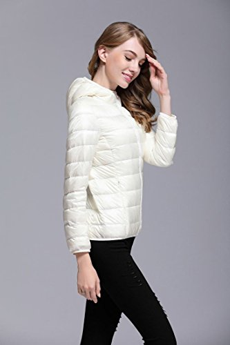 Puffer Packable Women's Light White Down Coat Packable Generic SIfwFcqS