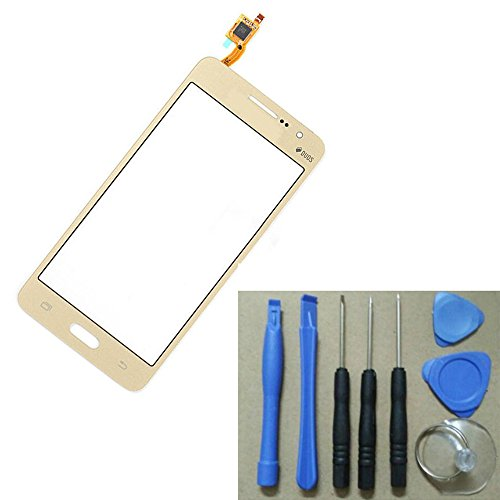 amazing-zone ~ Touch Screen Digitizer For Samsung Galaxy Grand Prime SM-G531H G531 with tools kit (Gold color)