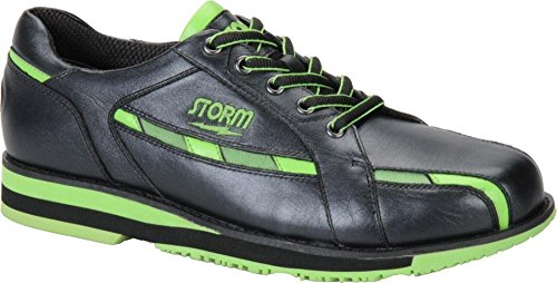 Storm Men's SP 800 Left Hand Bowling Shoes, Black/Lime, (Left Hand Bowling Shoes)