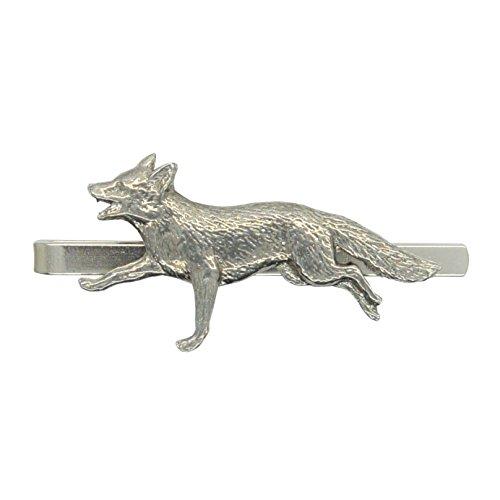 Pewter Fox - William Sturt Fine Pewter Running Fox Pewter Tie Clip (Slide/Bar), Handcast in England