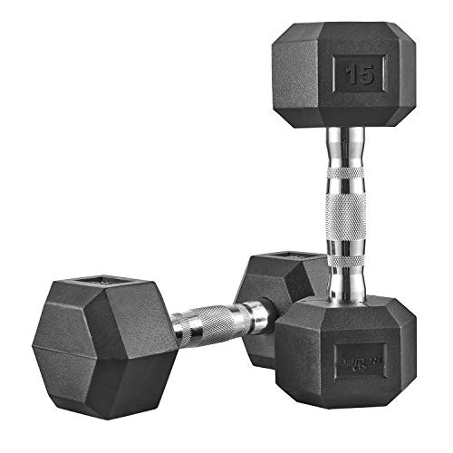 RELIFE REBUILD YOUR LIFE Hex Dumbbell Heavy Weights Barbell Matal Handles for Strength Training Home Gym Exercise Equipment
