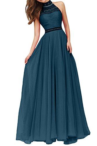 Perlen Ballkleider Linie mia La Festlichkleider Steine Partykleider Kleider mit Blau Jugendweihe Abendkleider Langes Tinte Brau Rock A H6HqTI1w