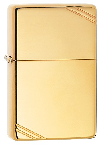Zippo Vintage High Polish Brass Pocket Lighter with Slashes Pocket Lighter