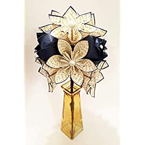 Paper Flowers & Roses Dozen- Custom First Anniversary gift, origami, one of a kind paper bouquet, traditional gift, perfect for her 2
