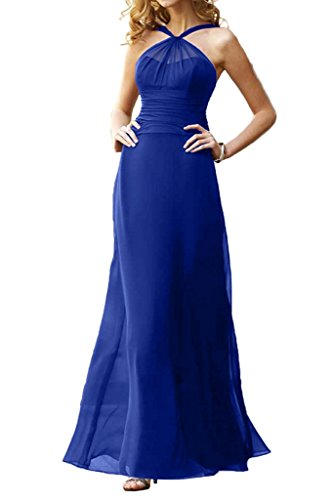 La_mia Braut Traube Chiffon Abendkleider Brautjungfernkleider Partykleider Etuikleider Rock Chiffon Royal Blau EJoORZ