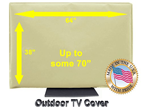 "Outdoor TV Cover (65""- 70"") Light Beige"