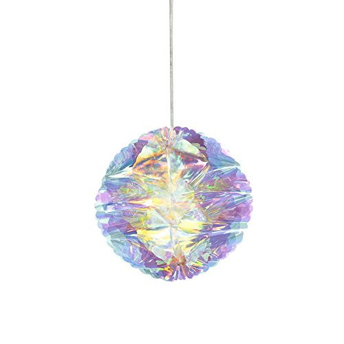 Talking Tables DD-IR-HON Iridescent Bauble Hanging Christmas Honeycombs-Pack of 3 by Talking Tables