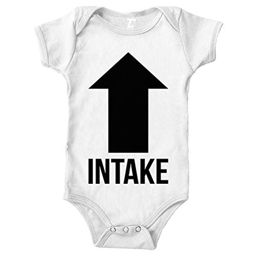 (Tcombo Intake Exhaust - Gearhead Funny Bodysuit (White, 6 Months))