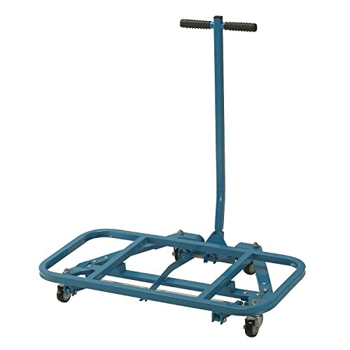 Easy Lift Desk Mover, Steel, Blue