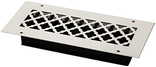 SteelCrest BTU12X4SWHH Bronze Series Designer Wall/Ceiling Vent Cover, with Air-Volume Damper, and mounting Screws, White -