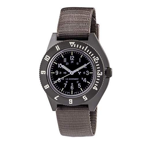 Marathon Watch Navigator Swiss Made Military Issue Pilot's Watch with Tritium. ETA F06 Movement (41mm, Black) WW194001
