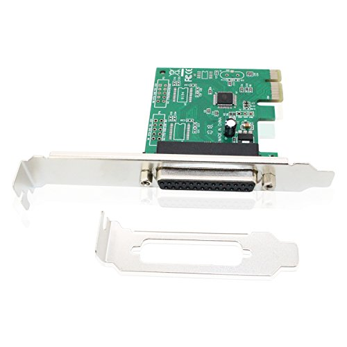PCIe Parallel Port Card, Tanbin PCI Express to DB25 LPT Printer Converter Adapter Controller for Desktop Support SPP/PS2/EPP/ECP Modes and Centronics Interface with Low Bracket