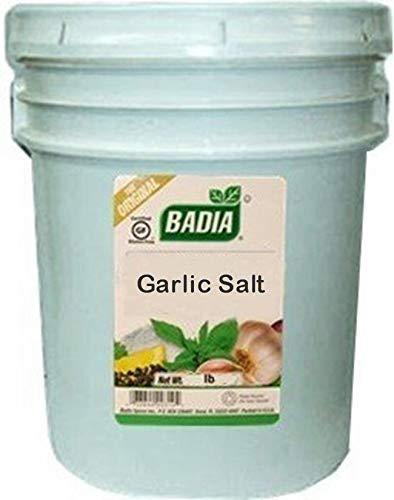 Badia Garlic Salt 50 lbs Pail Institutional Size