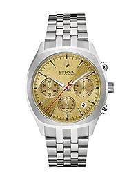 Bulova 96B239 Men's Accutron II Gold Tone Dial Steel Bracelet Chronograph Watch