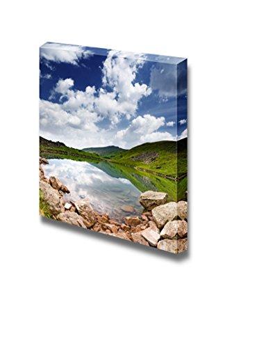 Beautiful Mountains Landscape Over a Calm Lake Wall Decor