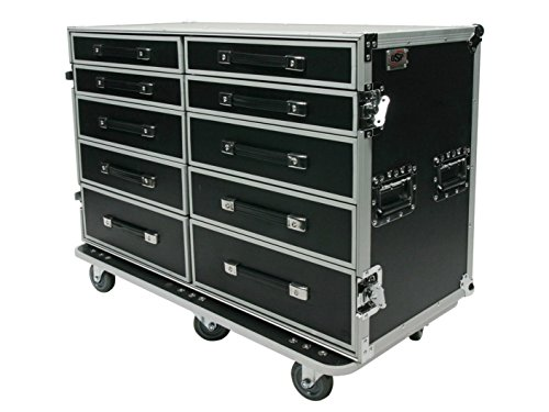 OSP Cases | Pro-Work-SXS | Side-By-Side 10-Drawer Utility Case | Free-Standing Lid Table from OSP