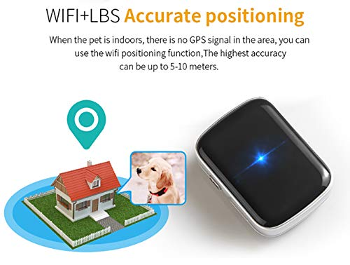 Pet GPS Locator Smart Search Pet Light Pet Tracker Tracker Multifunction Upgrade, Black by PYXZQW Pet tracker (Image #3)