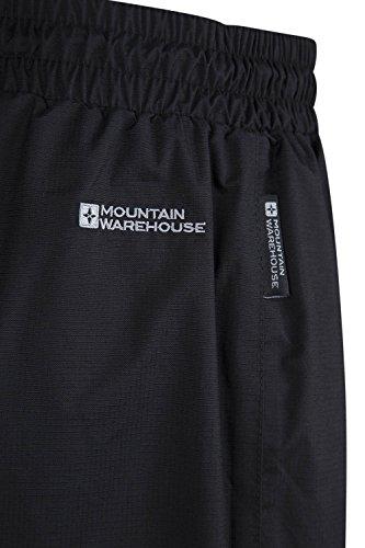 Mountain Warehouse Downpour Wasserdichte Herren-Überhose - Lange Länge Schwarz XX-Large