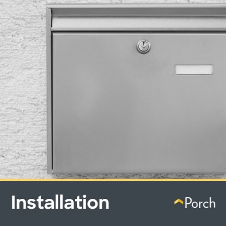 Mailbox Installation - Wall Mounted by Porch Home Services