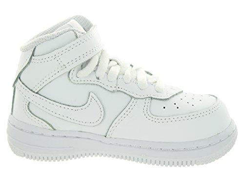 Nike Force 1 Mid (TD) Scarpe Walking Baby, Unisex Bimbo, Nero (Black/Black), 24 Bianco