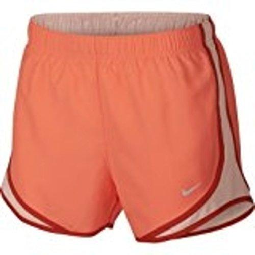(NIKE Women's Dry Tempo Shorts Crimson Pulse - Large)
