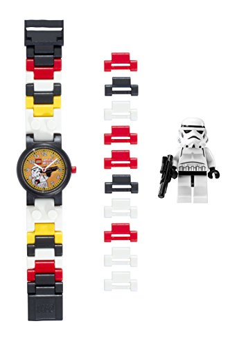 LEGO Star Wars 8020325 Stormtrooper Kids Buildable Watch with Link Bracelet and Minifigure | black/white | plastic | 25mm case diameter| analog quartz | boy girl | official