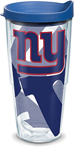 Tervis 1290889 NFL New York Giants Tumbler, 24 oz, Clear