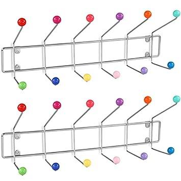 Superior Miadomodo Garderobenleiste Wandgarderobe Hakenleiste Kleiderhaken 12 Haken  Mit Bunten Kugeln   Setwahl Amazing Design