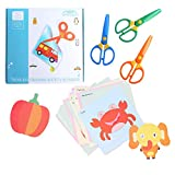 amassan Kids Scissors Plastic Safety Scissors Blunt Tip Scissors Toddlers Training Scissors Pre-School Training Scissors and Offices Scissors(3pcs)