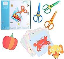 amassan Kids Scissors Plastic Safety Scissors Blunt Tip Scissors Toddlers Training Scissors Pre-School Training Scissors...