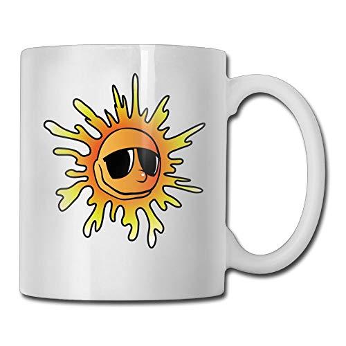 Kkidj Ooii Coffee Mug Novelty Birthday Sunglasses Cool Sun Ceramic Tea ()