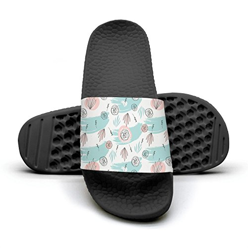 Slip Non drawn qiopw Woman hand Abstract rtw Bold Slipper Pink Shower Cactus Bathroom for Shoes Sandal Indoor IqStq