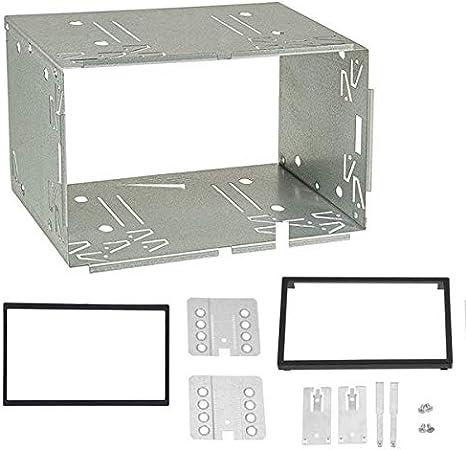 Sound-Way Kit Montaje Autoradio, Marco Metallico 2 DIN, Caja de Metal 100 mm 6.2