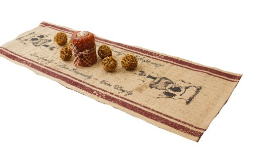 Your Heart's Delight Animal Stack Farm Life Table Runner, 13 by 36-Inch ()