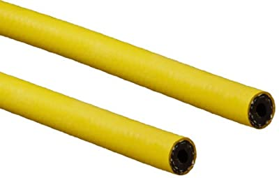 "Continental ContiTech Gorilla Nitrile Rubber Hose, Yellow, 500 PSI Maximum Working Pressure, 1/2"" ID x 0.89"" OD, 500' Continuous Length"