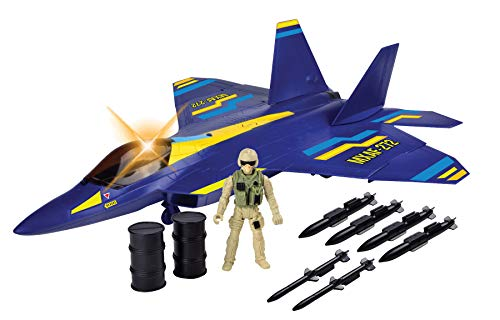 (Richmond Toys New Battle Zone F-22 Raptor Fighter Jet Play Set)