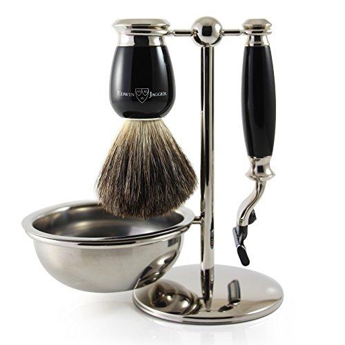 Edwin Jagger Shaving Gift Set, Ebony Ebony Set