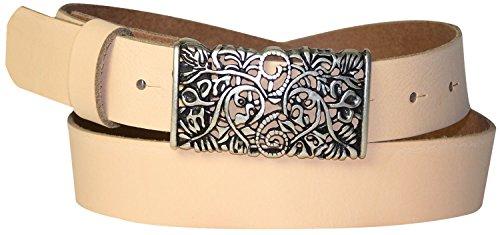 Donna Bianco Fronhofer 3 Nero Colori Fibbia 18008 Pesca Marine Art Alt Vera Cintura Con In Cm Floreale Da Motivo Rosso Pelle pErawT1qE