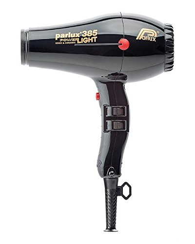 Parlux Power-Light Ionic & Ceramic Hair Dryer, No.385 Black by Parlux