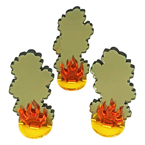 Lrg Image (Litko Game Accessories Large Flaming Wreckage Markers (3))