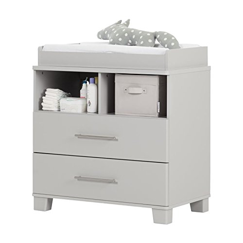 South Shore Cuddly Changing Table, Soft Gray by South Shore